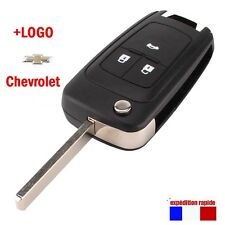 Boîtier Coque télécommande clé plip pour Chevrolet Cruze Camaro Equinox 3 Bouton