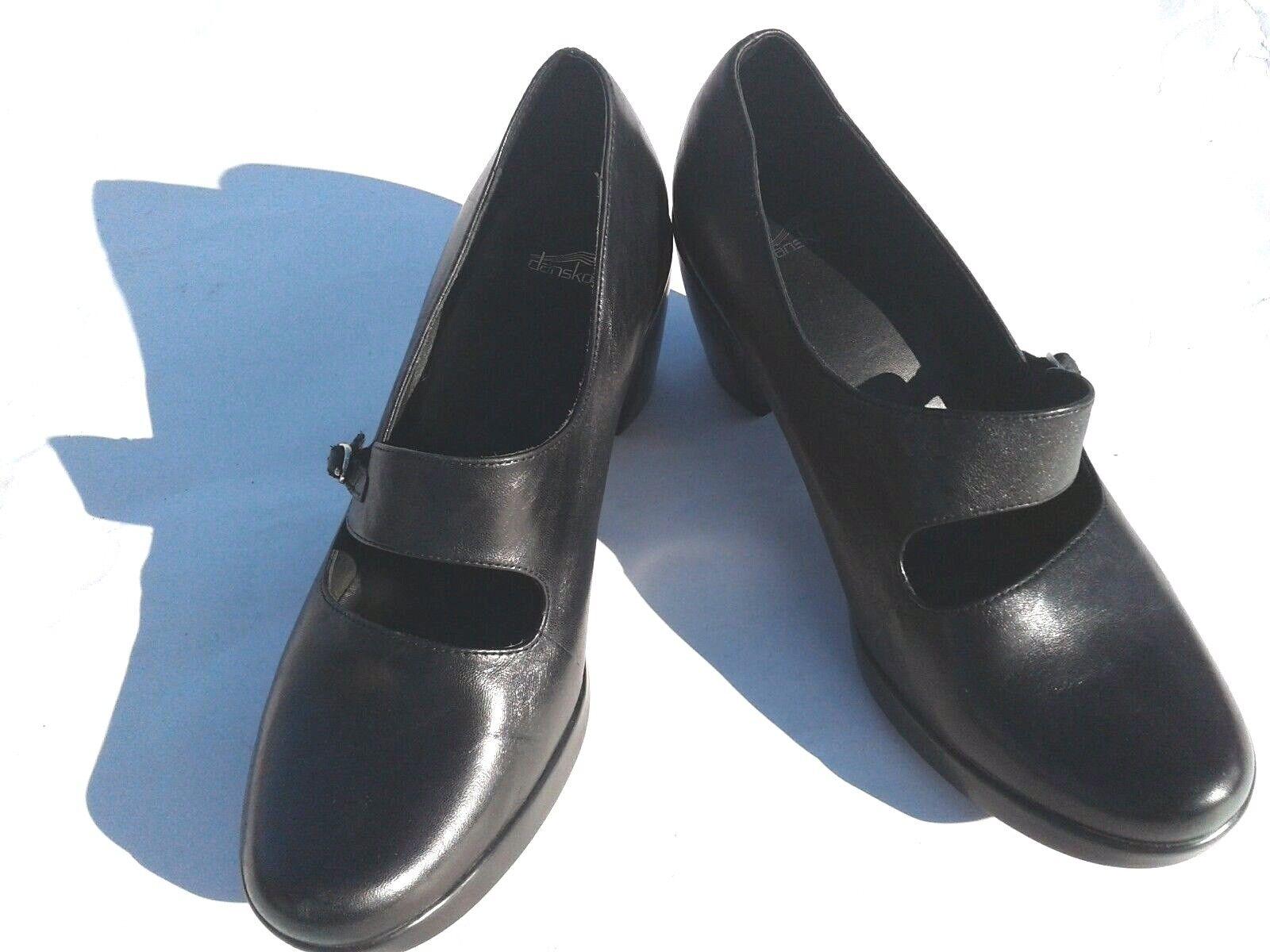 Dansko Negro Tacón Bomba de Mary Jane Zapatos Zapatos Zapatos Talla 40-Nuevo Sin Caja  barato