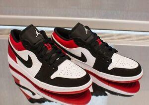 reputable site 5c765 5f77e Details about UK9 UK9.5 The Air Jordan 1 Low Black Toe