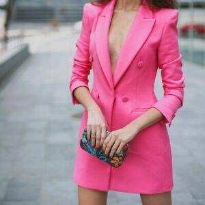 Acerca Grande Color Vestido Rosa Abrigo Ribeteados Original Detalles Agotado Bolsillos Mostrar 2613349 Título De L Zara Bloggers nOX80wkP