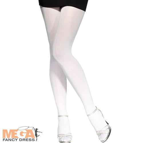 70 Denier White Tights Fancy Dress Ladies Costume Hoisery Womens Accessory Chinesische Aromen Besitzen
