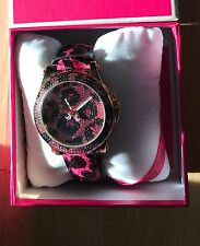 Juicy Couture Pink Leopard Print Reloj de mujer