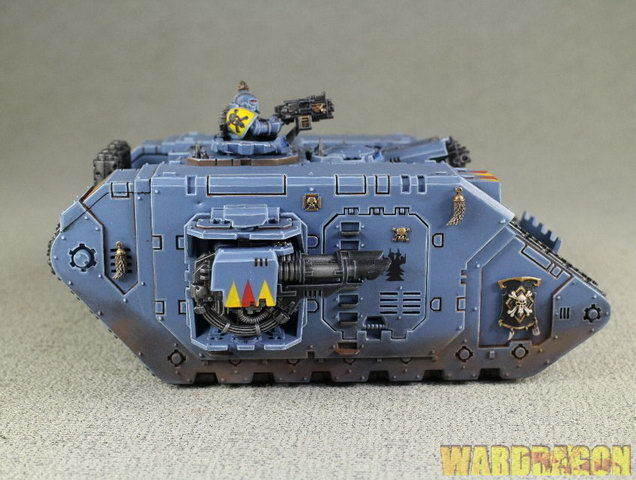 Warhammer 40K Land Raider Wds Pintado Espacio Lobos t95