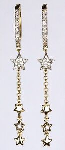 Dangling-Star-Earring-with-Diamond-in-14k-Yellow-Rose-or-White-Gold-D-0-14