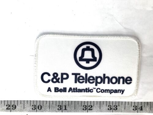 C /& P Telephone A Bell Atlantic Company Edge Embrodered Iron-on Patch-Nice!