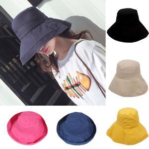 9fa1706a4e292 Women Ladies Summer Wide Brim Sun Hat Casual Outdoor Sunscreen Cap ...