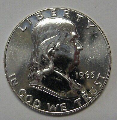 1961 Silver Proof Ben Franklin Half Dollar in Mint Set Cello Flashy Gem Examples