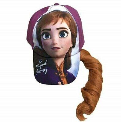 Frozen 2 Girls Child Disney Baseball Cap With Ponytailz