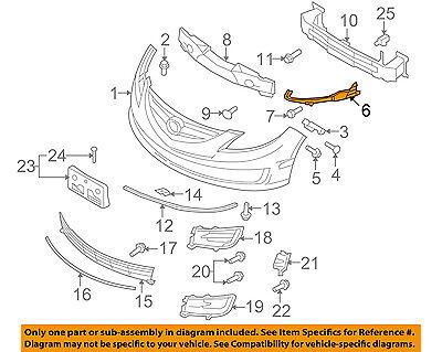OEM SET LH/&RH BUMPER FIXING BRACKETS Mazda 3 4 DOOR 2003 2004 2005 2006-2009