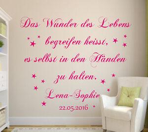 Wandtattoo-Kinderzimmer-Art-897-Das-Wunder-des-Lebens-Baby-Geschenk-Taufe