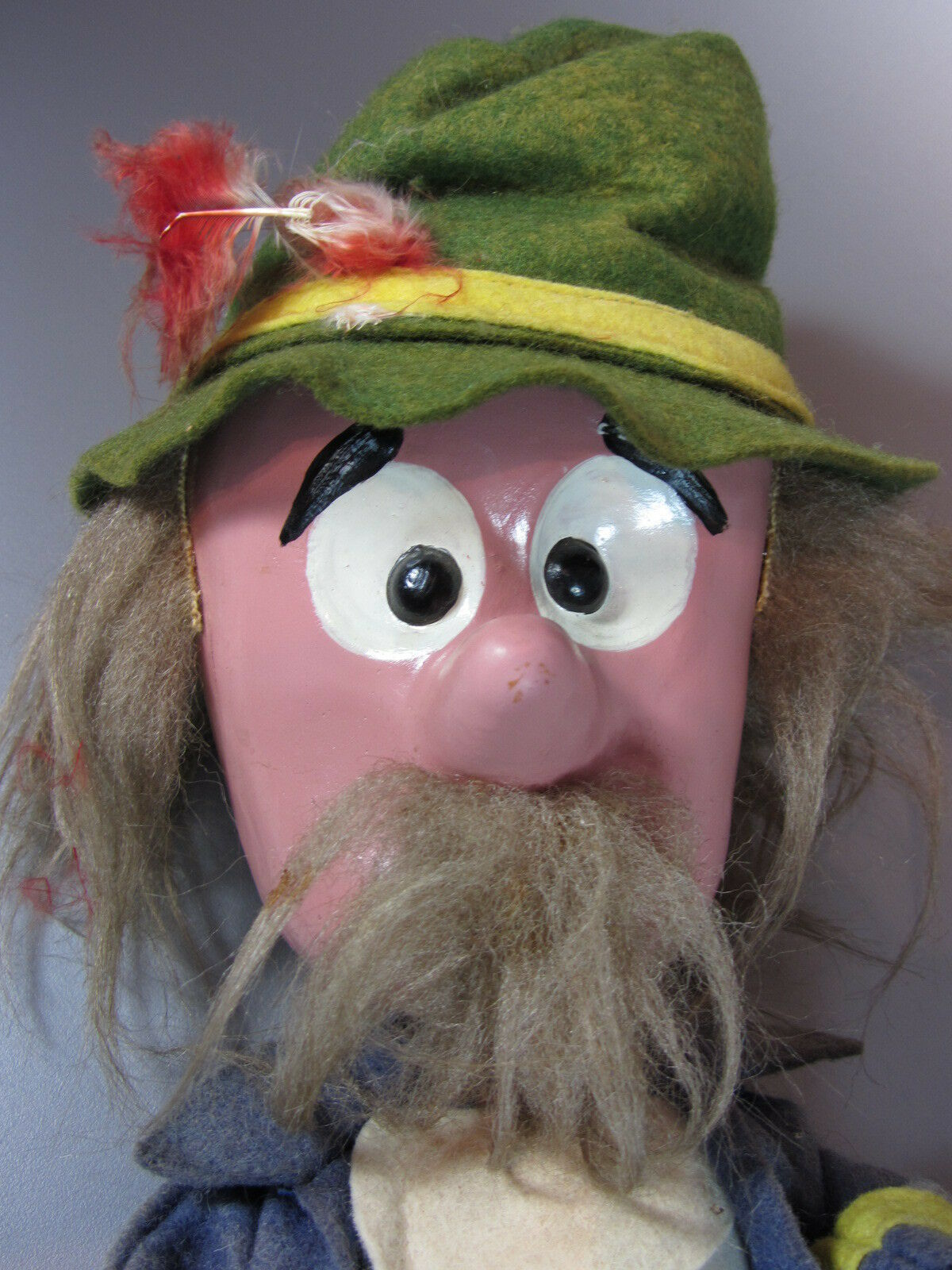 Vintage Mr Rusty Magic Roundabout Pelham Rod Puppet hand operated 60's M England