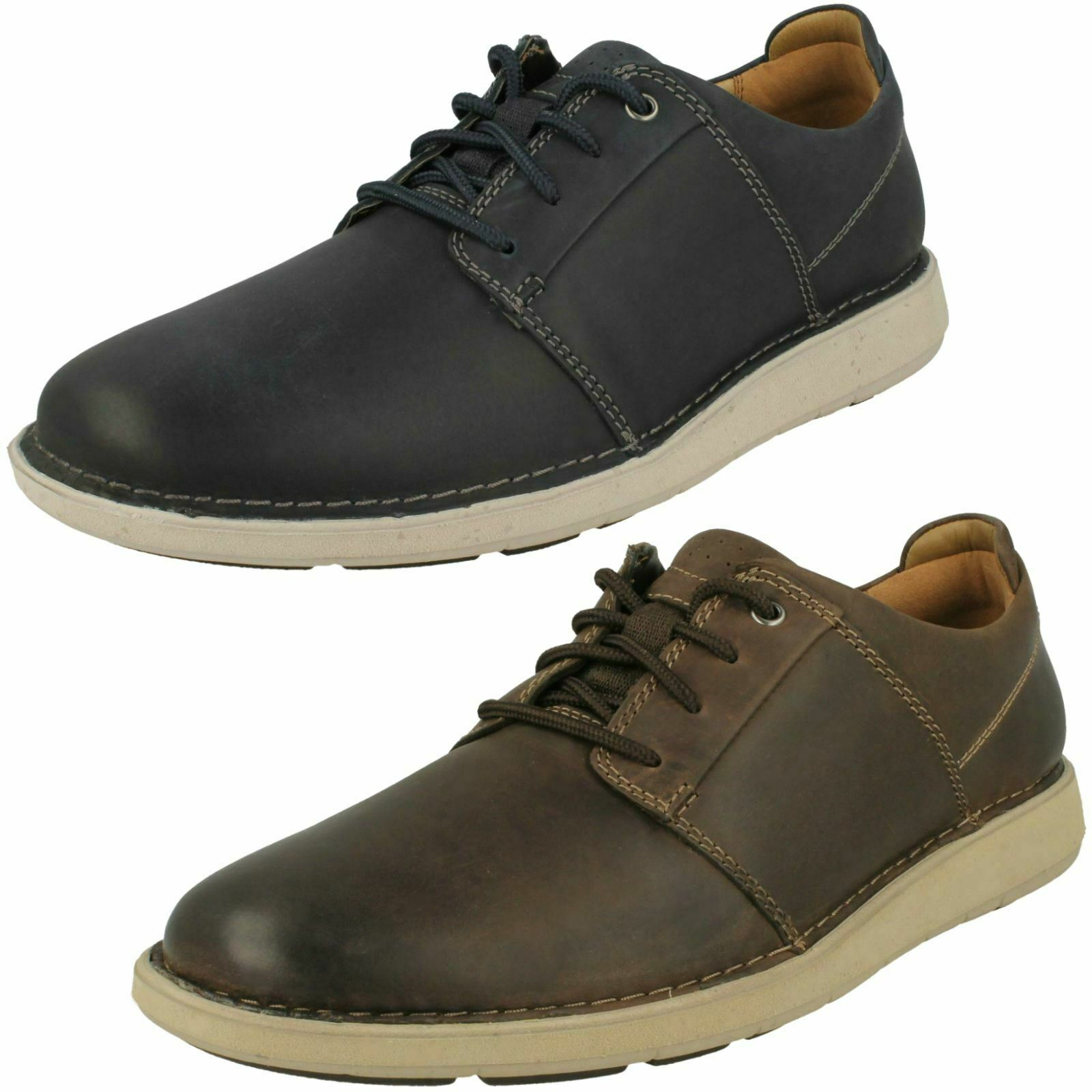 Mens Clarks Lace Up Casual schuhe - Un Larvik Lace