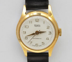 Tunis-vintage-1955-60-mechanical-gold-plated-unisex-watch-new-old-stock-unused