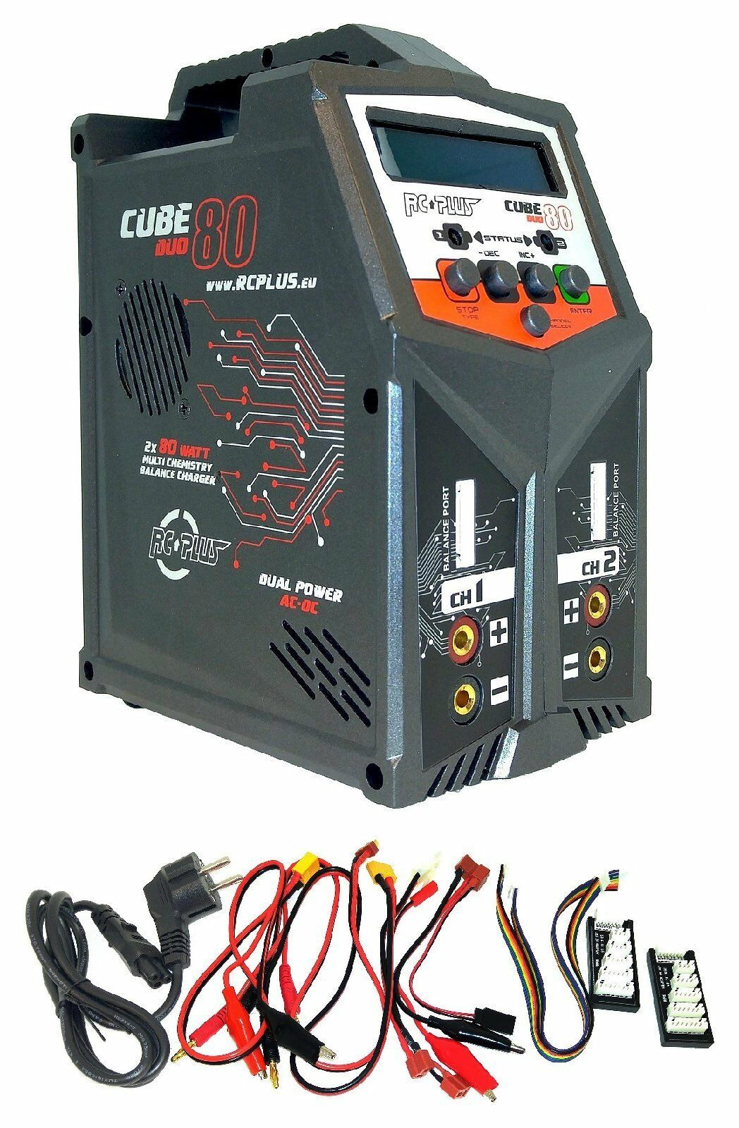 RC PLUS rc-cha-211 Cubo 80 Duo 2x 80watt   máx. 7a