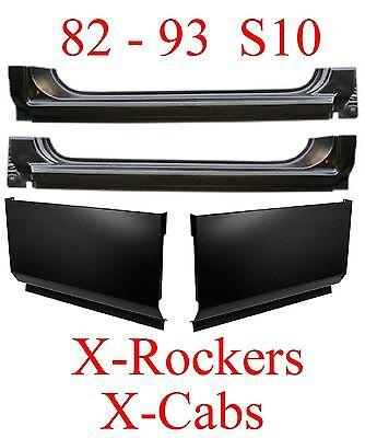 82 93 S10 Extended Rocker /& Extended Cab Corner 4Pc Kit Chevy GMC