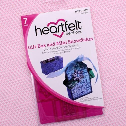 "Heartfelt Creations Gift Box /& Mini Snowflakes .75/"" To 4/"" 7 Stanzschab HCD1-7109"