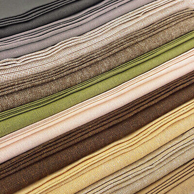 Fat Quarter Shell Solid Cotton Quilting Fabric  50cm x 55cm