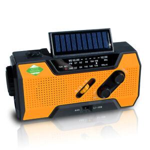Emergency Radio & NOAA Weather Radio 2000mAh Hand Crank Radio & Battery Powered