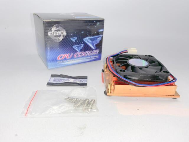 EVERCOOL Cuw3-610 Low Profile 1u Copper CPU Cooler for P4 Socket 478 W  Backplate