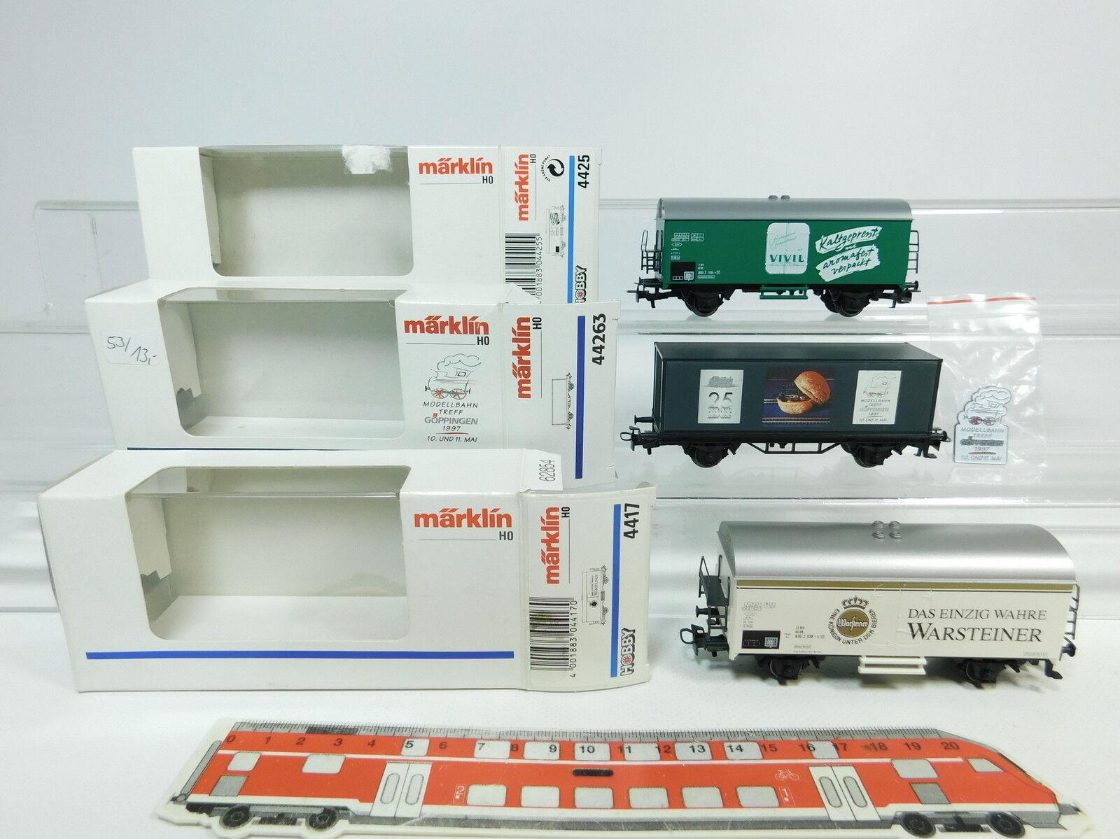 Az208-0, 5x Märklin h0 ac Freight Cars  4417 Warsteiner +4425+44263, NEUW + OVP