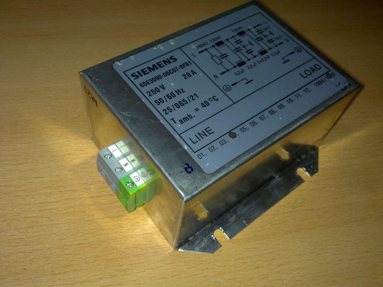 Siemens 6se3090-0bc07-0fb1 Rfi Filtro Soppressione Interferenze 6se30900bc070fb1