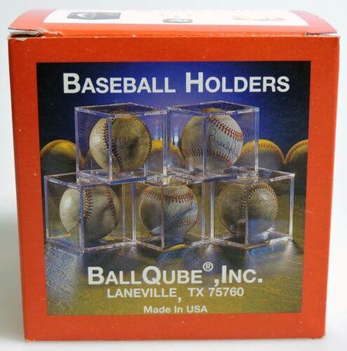 The Clear USA Winner BALLQUBE Plastic Baseball Holder In Box Display ESZ481