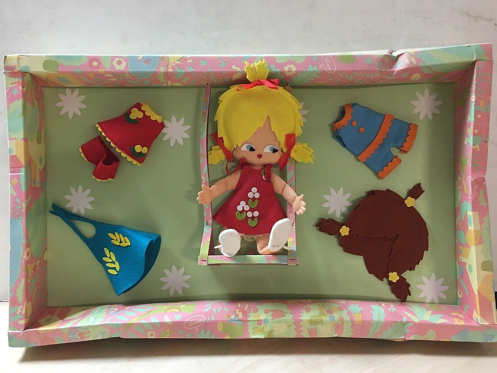 67118 Bambola di panno Vintage con scatola originale - Lenci