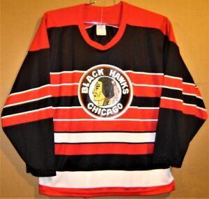 Image is loading CHICAGO-BLACKHAWKS-NHL-THROWBACK-JERSEY 9c93144e3c5