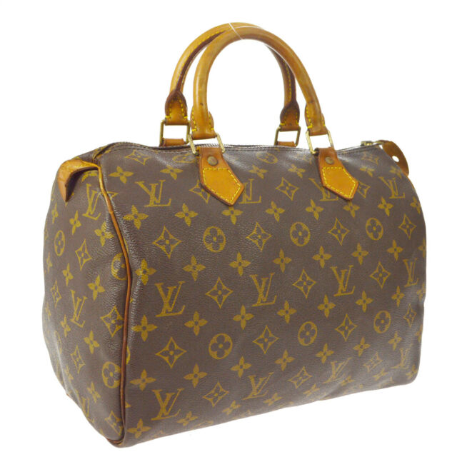 LOUIS VUITTON SPEEDY 30 HAND BAG PURSE MONOGRAM CANVAS M41526 TH0967 A52263