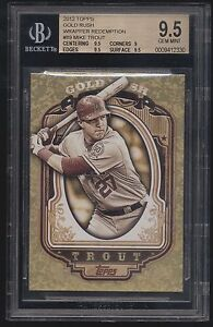 2012-Topps-Gold-Rush-Mike-Trout-Wrapper-Redemption-RC-BGS-9-5-Gem-Mint