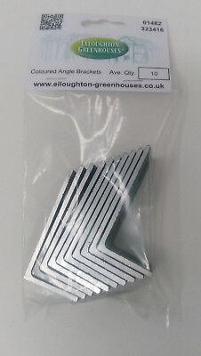 Elite Greenhouses Aluminium Angle Bracket Kit With Screws x10 To Secure Base