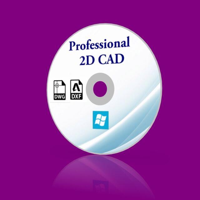 Professional CAD Software 2D CAD open DWG DXF autocad files Windows XP, 7, 8 10