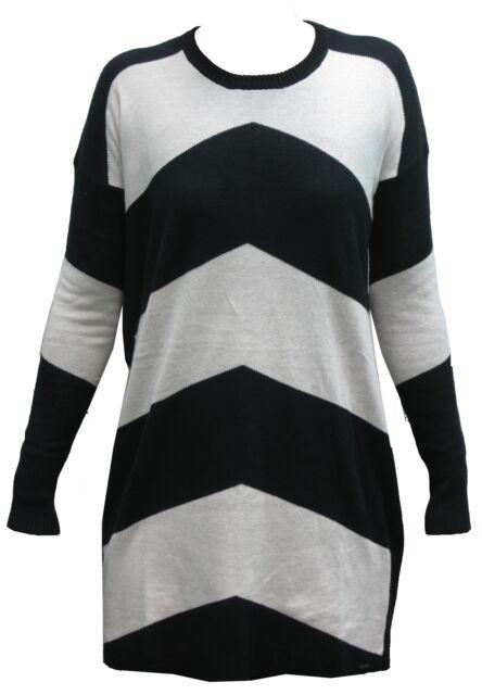 VOLCOM twisted sweater dress black woman maglioncino vestito donna cod.B0731405_