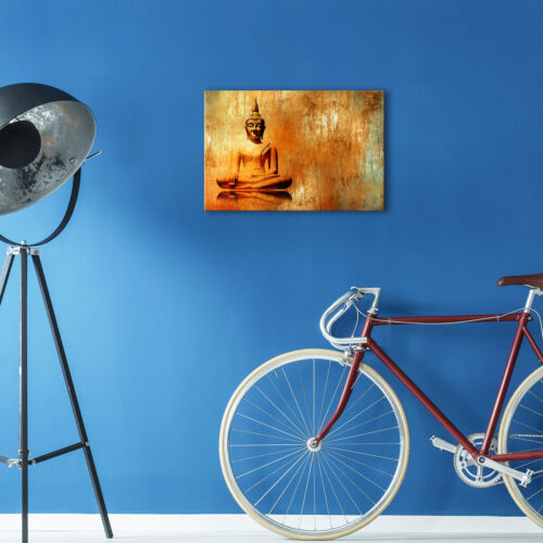 ZAB1424 Orange Buddha Cool Modern Canvas Abstract Home Wall Art Picture Prints