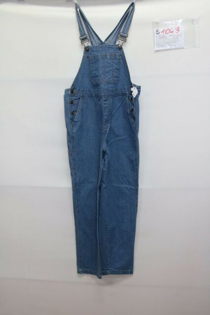 Salopette IN DUE TIME (Cod.S1043) Tg S jeans usato salopet vintage donna