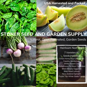 150 Heirloom Vegetable Seed 6 Variety Garden Set #5 Emergency Survival NON-GMO