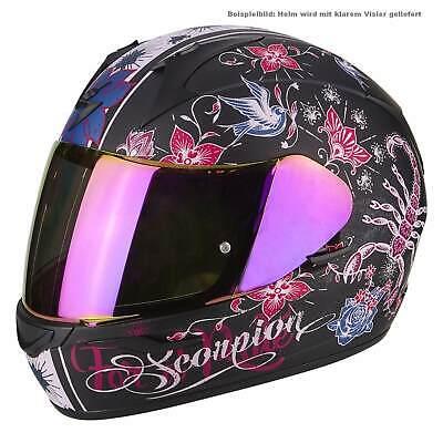 Detalles de Scorpion EXO 390 Chica Casco de Moto Integral Touring Mate Negro Rosa