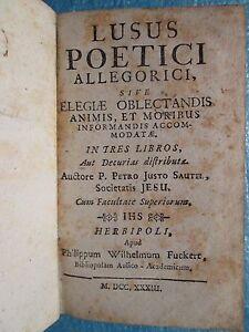 SAUTEL-LUSUS-POETICI-ALLEGORICI-Wurtzbourg-1733-Poesies-neo-latines