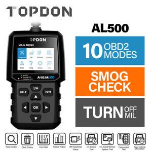 TOPDON AL500 Escáner OBD2 Lector de códigos de coche Comprobación del motor Diag