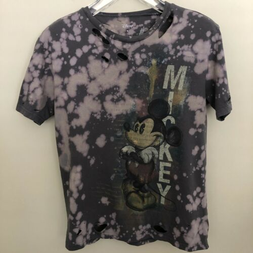 Medium Kauai Hawaii Unisex Upcycled Bleached Distressed /& Cut Camo Graphic T-Shirt