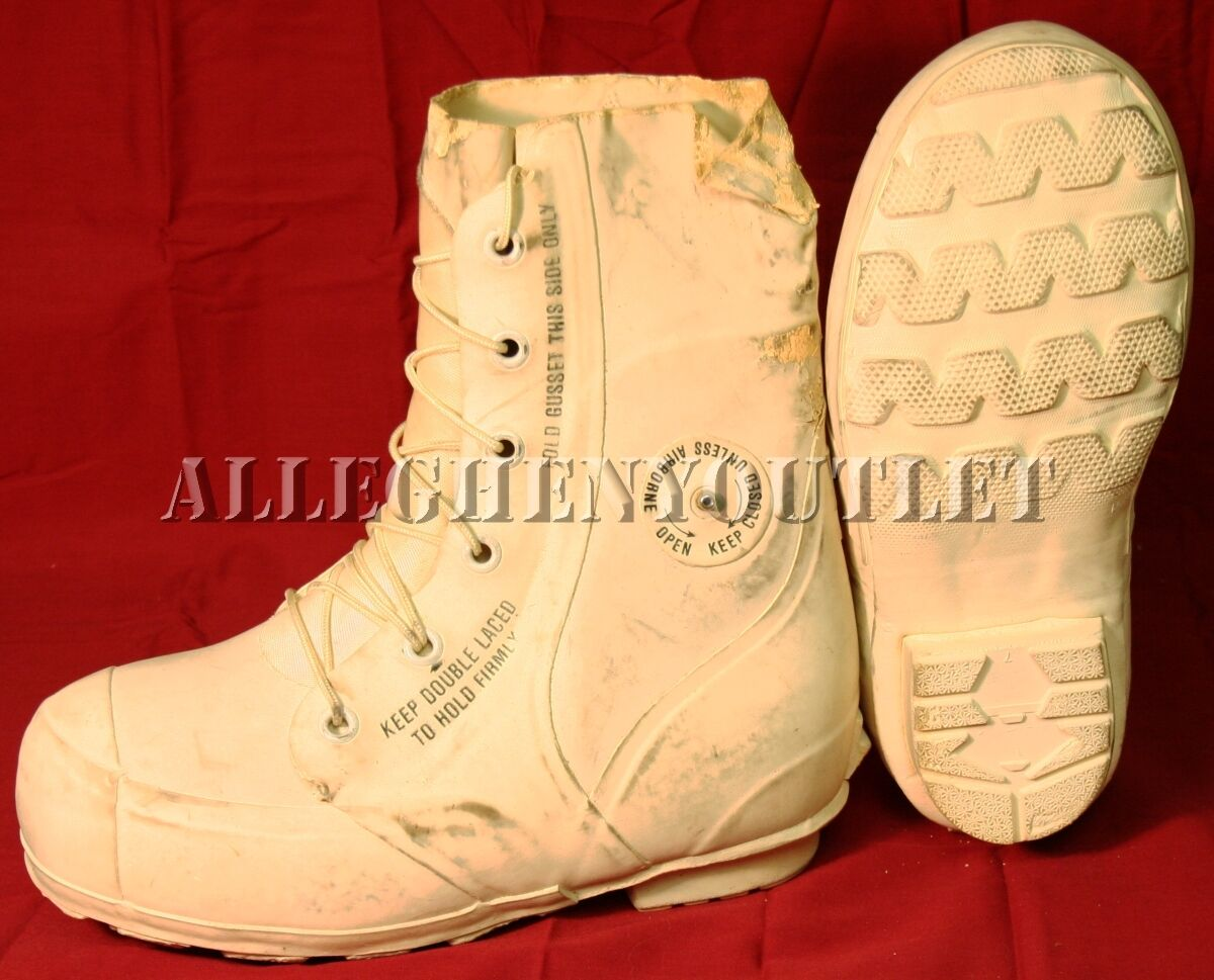 USGI White MICKEY MOUSE BUNNY BOOTS -30° Snowmobile Military NEW   Blem'd
