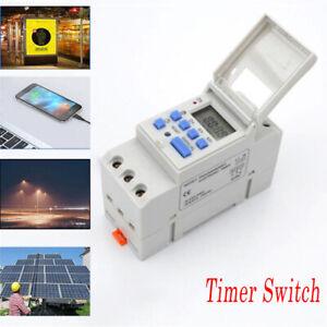 THC15A-12V-220V-Numerique-electrique-Programmable-Double-Outlet-minuterie