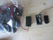 1X Gitarre Bass 9V Batterie Fach Deckel Schutz Deckel Schwarz 10 Stücke Set 9P1