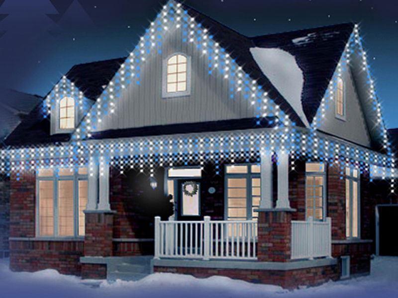 Noël 480 240 360 480 Noël 720 960 DEL Icicle neige Noël Chaser Lumières dans & Outdoor 1b5b52
