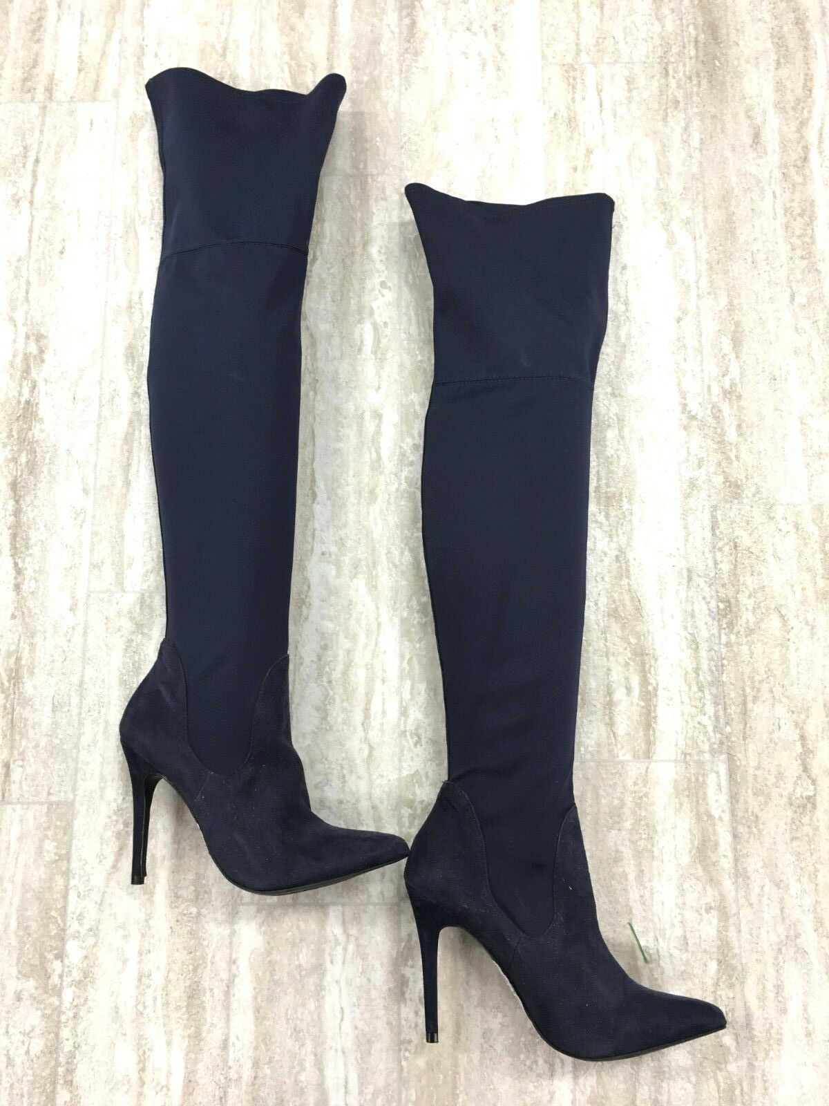 Charles by Charles David Stretch Thigh High Navy Boots Size  6.5