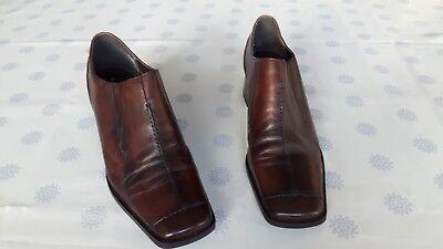 Stiefeletten / Halbschuhe von Sally O'Hara Gr. 40 * Leder * 5 cm Absatz * braun