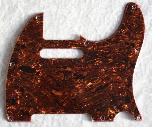 Pickguard Tele Telly 8 Loch Tortoise Brown Tolle Farbe 210TBP