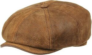 Image is loading Stetson-Burney-Leather-Bakerboy-Cap-Newsboy-Gatsby e0ef7995308