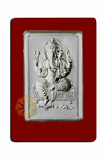 2gms Rectangular Ganesh Silver Coin 999 Purity By Parshwa Padmavati Gold