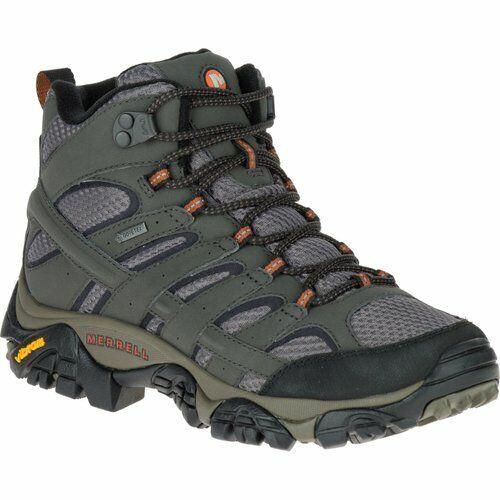 Merrell Moab 2 Womens Mid Gtx Beluga Green Grey Hiking Boots shoes Size J06062